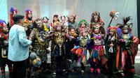 Teater Koma mementaskan dua adegan Goro-Goro: Mahabarata 2 saat jumpa pers Rabu (17/7) di Universitas Tarumanegara, Jakarta. Teater Koma akan mementaskannya 25 Juli-4 Agustus 2019 di Graha Bhakti Budaya Taman Ismail Marzuki. (Foto: Santi Muhrianti)