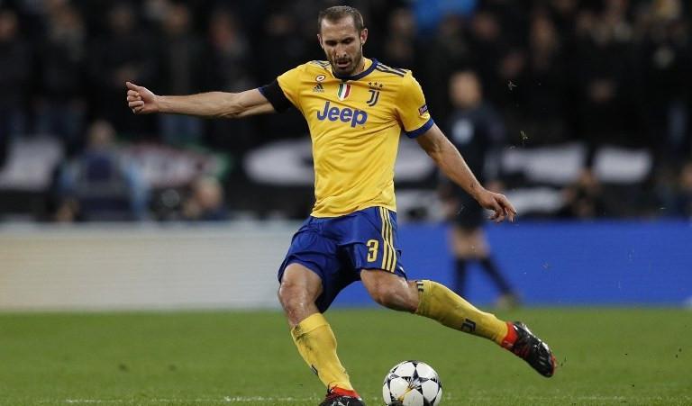 Bek Juventus asal Italia, Giorgio Chiellini. (AFP/Adrian Dennis)