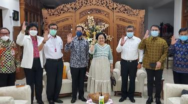 Pertemuan Megawati dan Nadiem Makarim.