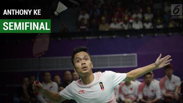 Anthony Sinisuka Ginting melaju ke semifinal Asian Games 2018 usai menaklukkan Chen Long.