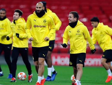 Intip Latihan Pemain Dortmund Jelang Hadapi Tottenham di Wambley