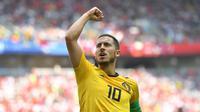 Gelandang Chelsea, Eden Hazard, kemungkinan besar bakal menjadi salah satu pemain bintang yang berganti klub pada musim panas 2018. (AFP/Yuri Cortez)