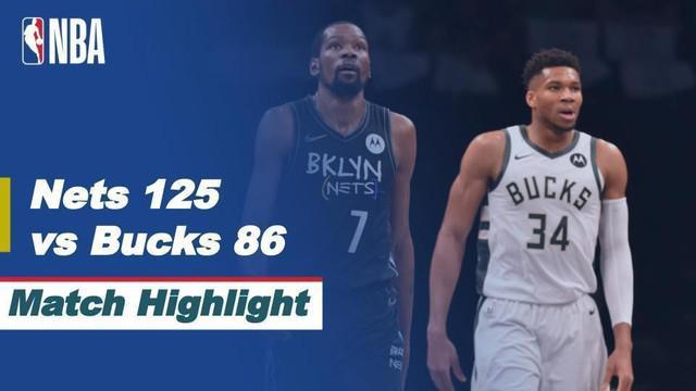 Berita video highlights game 2 semifinal wilayah timur NBA Playoffs 2021 antara Brooklyn Nets melawan Milwaukee Bucks yang berakhir dengan skor 125-86, Selasa (8/6/2021) pagi hari WIB.
