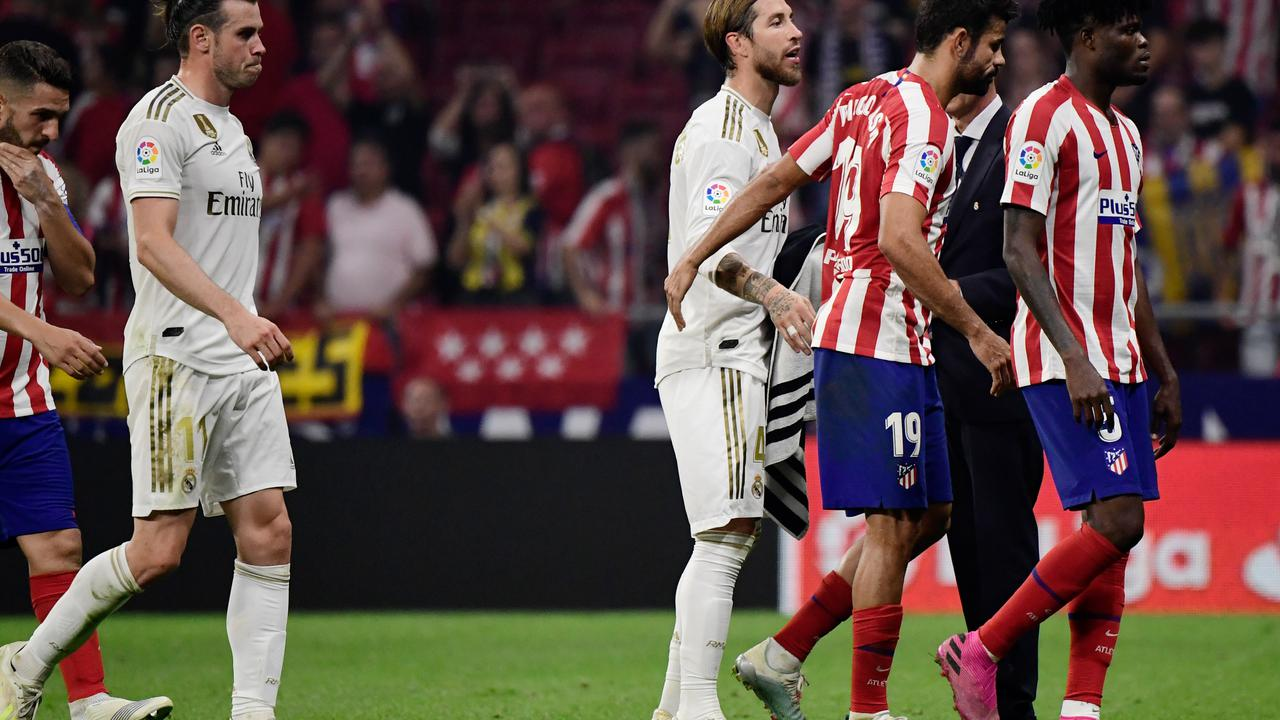 Insiden Tak Terpuji Warnai Derby Madrid, Sergio Ramos Hina Ibu Simeone?