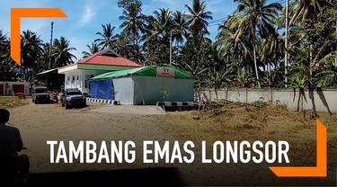 Tim DVI Polda Sulawesi Utara melakukan identifikasi jenazah korban longsor tambang emas.