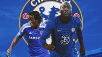 Chelsea - Romelu Lukaku Jersey Lama dan Baru (Bola.com/Adreanus Titus)