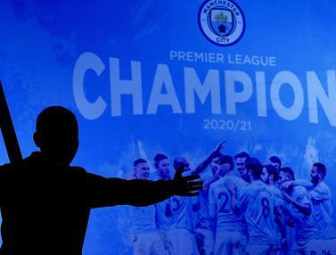 FOTO: Selebrasi Fans dan Pendukung Manchester Biru usai Pastikan Gelar Juara Liga Inggris 2020/2021
