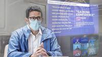 Menparekraf Sandiaga Uno saat rapat virtual dengan para kepala dinas membahas pariwisata dan ekonomi kreatif (dok.instagram/@sandiuno/https://www.instagram.com/p/CJQlqwgB7xj/Komarudin)