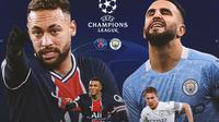 Liga Champions - PSG Vs Manchester City - Head to Head (Bola.com/Adreanus Titus)