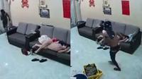 Pria Ini Mencuri dengan Badan Penuh Oli (sumber: facebook/We are Malaysians)