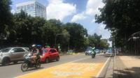 Kondisi setelah larangan motor dicabut di Jl MH Thamrin, Jakarta Pusat. (Liputan6.com/Fachrur Rozi)
