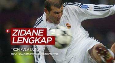 Berita video para legenda sepak bola dunia yang telah meraih trofi Liga Champions, Piala Dunia, dan Ballon d'Or, termasuk di dalamnya Zinedine Zidane.