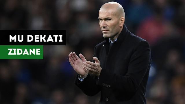 Manchester United dikabarkan Diario AS mendekati mantan pelatih Real Madrid, Zinedine Zidane.