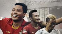 Osvaldo Haay, Evan Dimas dan Kushedya Yudo. (Bola.com/Dody Iryawan)