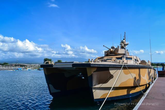Tank Boat 105 mm bernama Antasena. Foto: Pindad