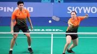 Ganda campuran Indonesia, Praveen Jordan / Melati Daeva Oktavianti di SEA Games 2019. (PBSI)