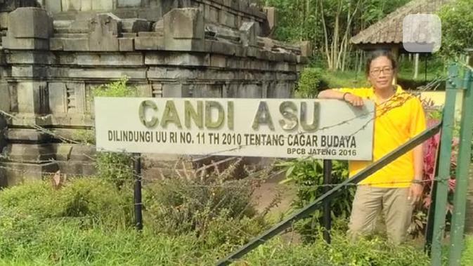 Hangno Hartono, peneliti budaya Jawa dari Yayasan Cahaya Nusantara Yogyakarta menggunakan pola ziarah untuk memahami peradaban lama (foto: Liputan6.com / edhie prayitno ige)