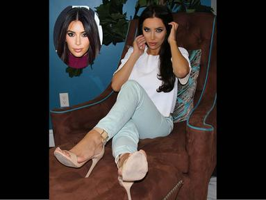 Wanita ini merasa kesal dimirip-miripkan dengan bintang reality TV, Kim Kardashian. (Dailymail)