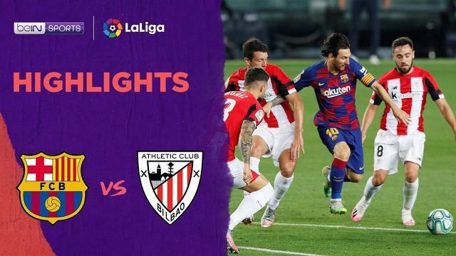 Berita video highlights La Liga 2019-2020 antara Barcelona melawan Athletic Bilbao yang berakhir dengan skor 1-0, Rabu (24/6/2020) dini hari WIB.