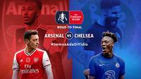 Final Piala FA bisa disaksikan di aplikasi dan situs streaming Vidio. (Sumber: Vidio)