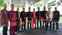 Untuk pertama kalinya Paspampres pakai baju adat saat upacara Kemerdekaan Indonesia di Istana Merdeka. (Liputan6.com/ Ahmad Romadoni)