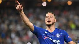 1. Eden Hazard (100 juta euro) - Chelsea melepas bintang asal Belgia ke Real Madrid dengan nilai transfer mencapai 100 juta euro pada musim panas 2019. (AFP/Ozan Kose)