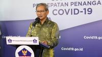 Juru Bicara Pemerintah untuk Penanganan COVID-19 di Indonesia, Achmad Yurianto saat konferensi pers Corona di Graha BNPB, Jakarta, Jumat (12/6/2020). (Dok Badan Nasional Penanggulangan Bencana/BNPB)