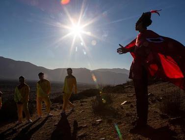 Ramai-Ramai Sambut Datangnya Gerhana Matahari Total di Chile