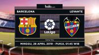 La Liga - Barcelona Vs Levante (Bola.com/Adreanus Titus)