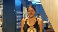 Melanie Subono memperkenalkan Hasio, kolaborasi Orang Tua x Maximall Footwear. (Istimewa)