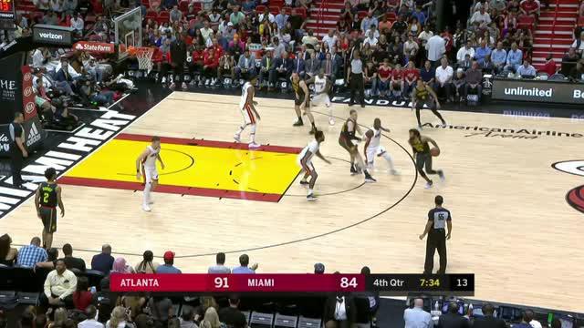 Berita video game recap NBA 2017-2018 antara Miami Heat melawan Atalanta Hawks dengan skor 101-98.