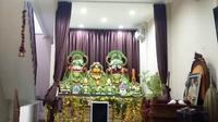 Arca di kuil Hare Krishna.  (Liputan6.com/Tri Ayu Lutfiani)