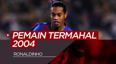 Berita motion graif 5 pemain paling berharga di dunia tahun 2004, Ronaldinho kalahkan David Beckham.