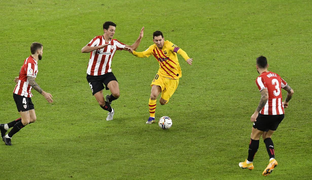 FOTO: Messi 2 Gol, Barcelona Taklukkan Athletic Bilbao di ...