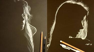 6 Lukisan Wanita dari Cahaya dan Bayangan Ini Bak Sungguhan, Bikin Kagum