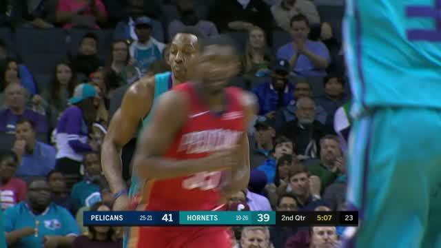 Berita video game recap NBA 2017-2018 antara New Orleans Pelicans melawan Charlotte Hornets dengan skor 101-96.