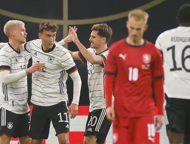 Gol Tunggal Luca Waldschmidt Bawa Jerman Taklukan Republik Ceko