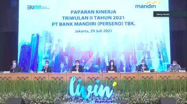 Paparan kinerja Bank Mandiri pada Kamis, 29 Juli 2021 (Foto: Liputan6.com/Pipit Ika R)
