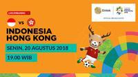 Jadwal sepak bola putra Asian Games 2018, Indonesia vs Hong Kong. (Bola.com/Dody Iryawan)