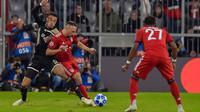 Bayern Munchen menghadapi Ajax Amsterdam pada laga kedua Grup E Liga Champions, di Allianz Arena, Selasa (2/10/2018). (AFP/GUENTER SCHIFFMANN)