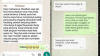 6 Chat Dosen Panjang Lebar ke Mahasiswa Ini Bikin Ngakak (sumber: 1cak dan Instagram.com/dr.mahasiswa)