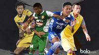 4 Pemain Jebolan SAD Yang Sukses, Rizky Pellu, Manahati Lestusen, Yandi Sofyan dan Hansamu Yama Pranata (bola.com/Rudi Riana)