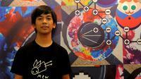 Rian D'Masiv saat menyaksikan konser MEW di Jakarta, Selasa (31/3/2015). (Liputan6.com/Faisal R Syam)