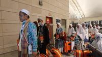 Jemaah asal Embarkasi Banjarmasin 19 (BDJ-19) menjadi yang terakhir pulang ke Indonesia, pada 15 september 2019. Darmawan/MCH