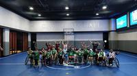 Timnas basket putri kursi roda Indonesia ini akan berlaga di turnamen basket putri kursi roda di Thailand  (Istimewa)