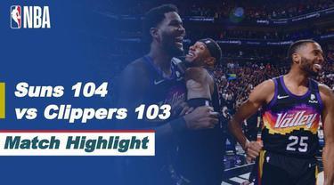 Berita video highlights game 2 Final Wilayah Barat NBA Playoffs 2021 antara Phoenix Suns melawan LA Clippers yang berakhir dengan skor 104-103, Rabu (23/6/2021) pagi hari WIB.
