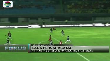 Timnas Indonesia U-19 berhasil kalahkan Kamboja 2-0 dalam laga persahabatan kemarin (4/10).