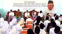 Cawapres nomor urut 01 Ma'ruf Amin Saat Mengunjungi Pondok Pesantren Bugen Al-Itqon, Semarang, Jawa Tengah. (Foto: Liputan6.com/Muhammad Radityo Priyasmoro)