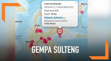 Gempa dengan magnitudo 6,9 mengguncang wilayah Sulawesi Tenggara. Badan Meteorologi, Klimatologi, dan Geofisika (BMKG) langsung mengeluarkan peringatan dini terjadinya tsunami.