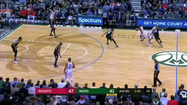 Berita video game recap NBA 2017-2018 antara Houston Rockets melawan Milwaukee Bucks dengan skor 110-99.